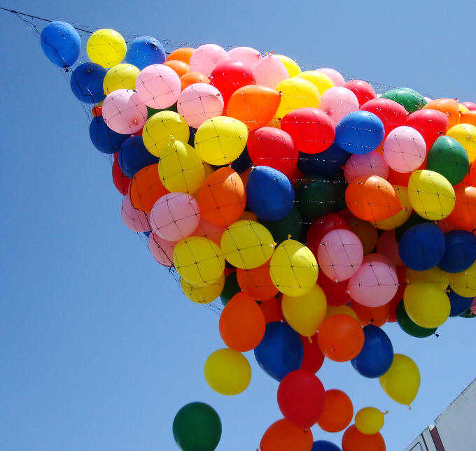 Balon Gate Drop Jatuh Gambar Fotografi